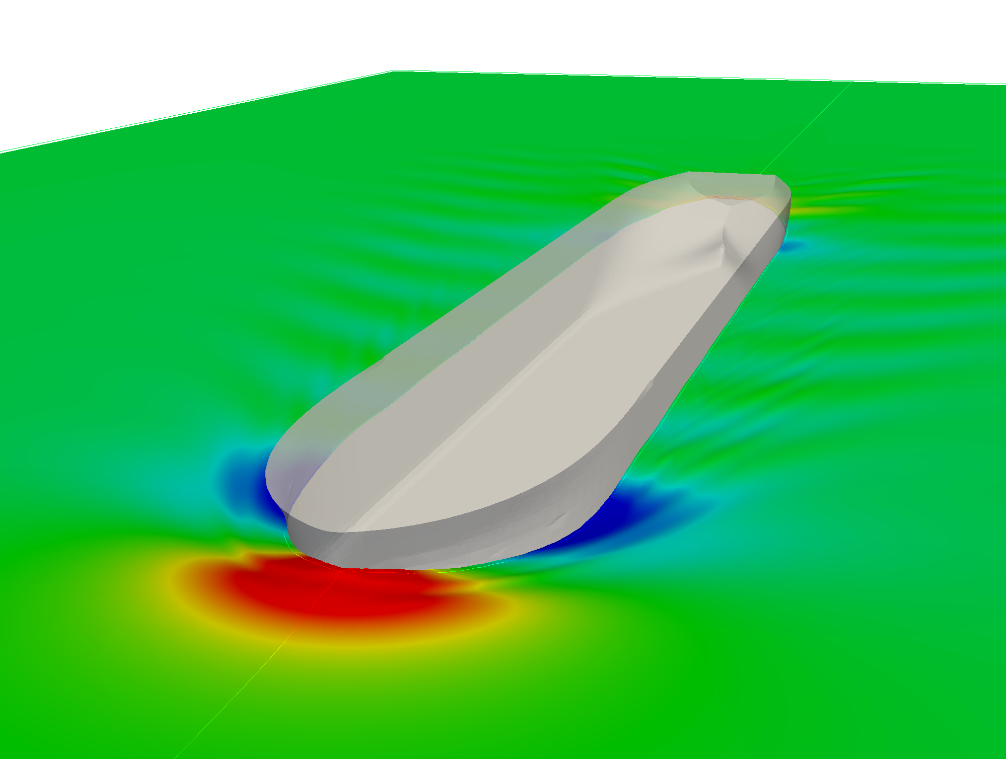 CFD simulation of ship resistance for a tanker